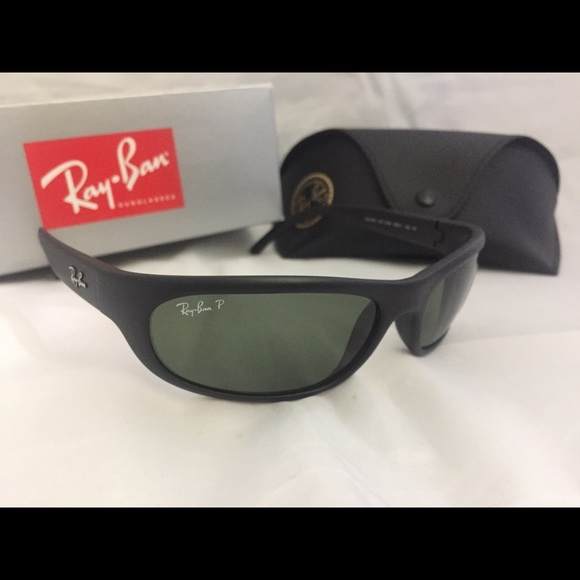 a2a0c0885559 Ray Ban RB4033 Polarized Sunglasses Matte Black